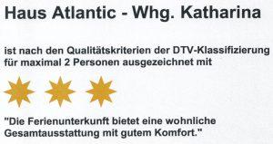 Haus Atlantic Wohnung Katharina (3 Sterne)