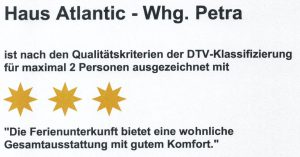 Haus Atlantic Wohnung Petra (3 Sterne)